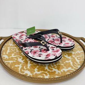 New Kate Spade Sandals Thong Flip Flops Floral